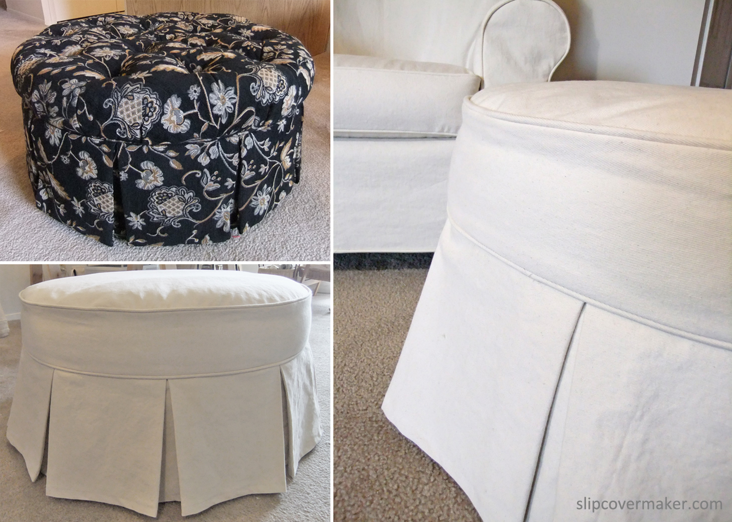 Slipcover For Oversized Chair And Ottoman Ottoman Slipcover From Tufted To Tailored The Slipcover