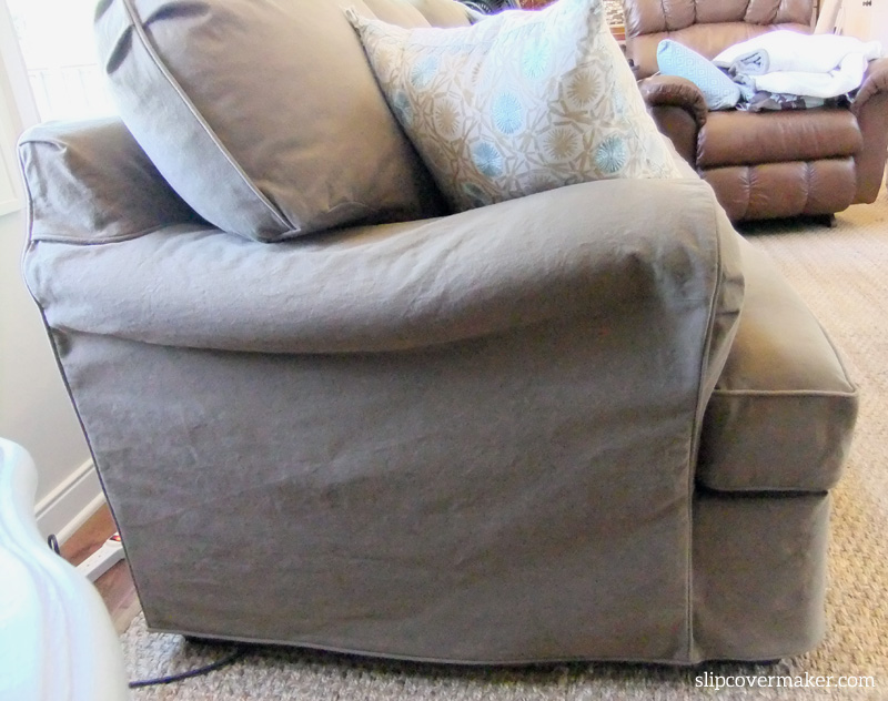 slipcovers for sofa cushions only black table with glass top dog friendly denim slipcover | the maker