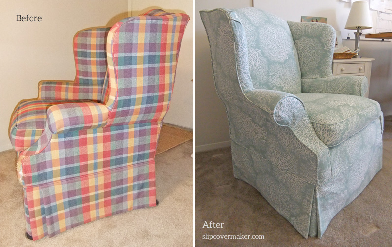 cotton wingback chair covers dining armchair slipcovers | the slipcover maker