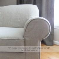 sallys linen sofa slipcover   The Slipcover Maker