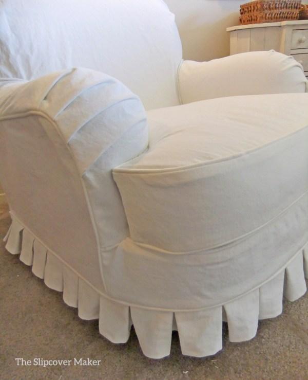 White Denim Slipcover Chair