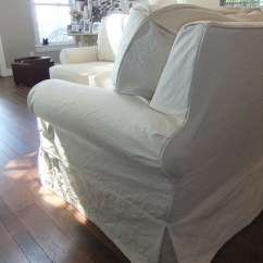 Slipcovers For Sectional Sofa Non Traditional Beds Slipcover In Natural Duck Cloth The Maker