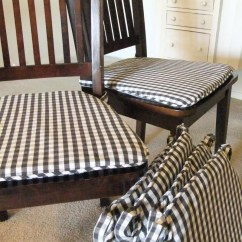 Gingham Dining Room Chair Covers Metal Folding Slipcovers | The Slipcover Maker