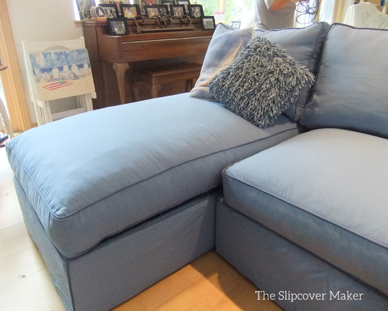 pottery barn chaise sofa sectional tosh furniture modern italian design franco blue canvas slipcover for big | the ...