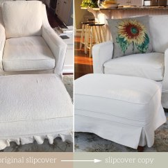 Armchair And Ottoman Slipcover Set Ladder Back Dining Chairs With Arms The Maker Custom Slipcovers Tailored To Fit
