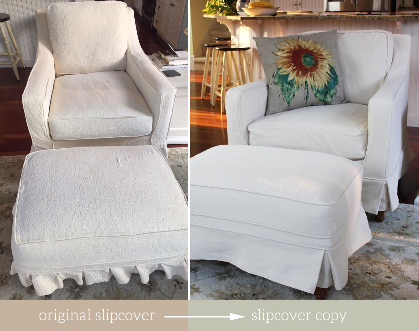 Slipcover For Oversized Chair And Ottoman The Slipcover Maker Custom Slipcovers Tailored To Fit