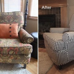 Slipcovers For Living Room Chair Cover Rentals Las Vegas Charcoal Gingham Slipcover The Maker Chester