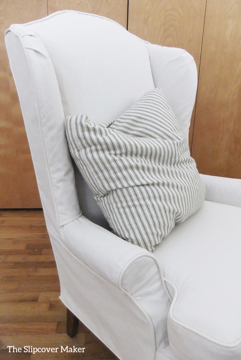 how to make slipcover for wingback chair office club chairs custom canvas the maker