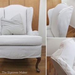 How To Make Slipcover For Wingback Chair Sofa And Set Custom Canvas The Maker Natural Carr Go