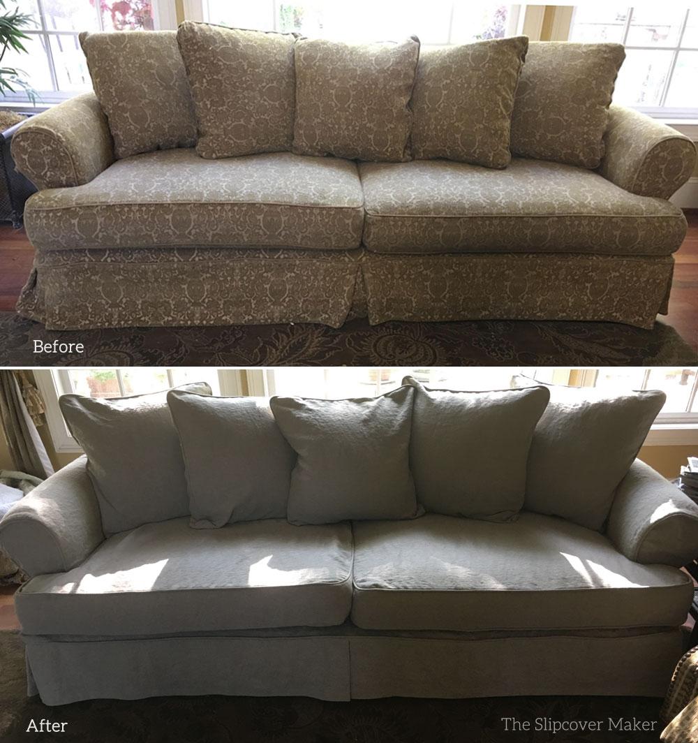 linen sofa slipcover designer sets for drawing room copy cisco the maker