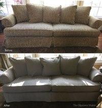 linen sofa slipcover | www.Gradschoolfairs.com