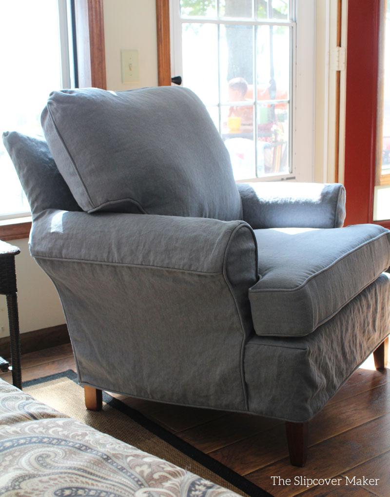 Slipcover Linen A Pretty Alternative to Classic Grey