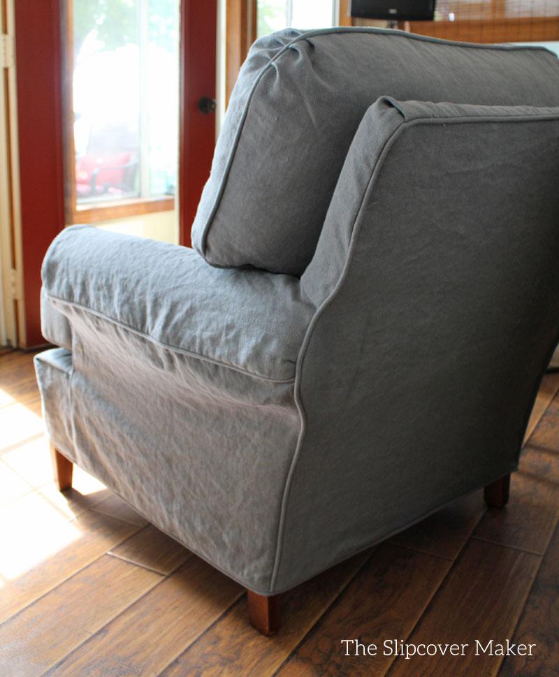gray chair slipcover toddler seat linen slipcovers the maker instalinen brazil blue 5