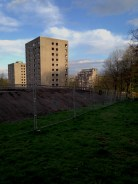 Disappearing high rise flats