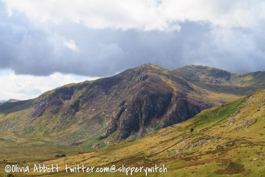 Looking back to Gallt yr Ogof in the Glyderau