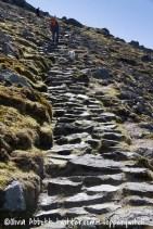 The steep bit!