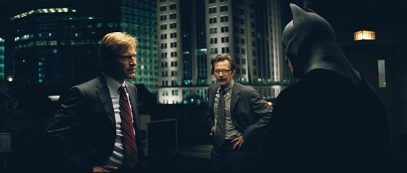 """AARON ECKHART stars as Harvey Dent, GARY OLDMAN stars as Lieut. James Gordon and CHRISTIAN BALE stars as Batman in Warner Bros. Pictures' and Legendary Pictures' action drama """"The Dark Knight,"""" distributed by Warner Bros. Pictures and also starring Michael Caine, Heath Ledger, Maggie Gyllenhaal and Morgan Freeman.PHOTOGRAPHS TO BE USED SOLELY FOR ADVERTISING, PROMOTION, PUBLICITY OR REVIEWS OF THIS SPECIFIC MOTION PICTURE AND TO REMAIN THE PROPERTY OF THE STUDIO. NOT FOR SALE OR REDISTRIBUTION."""