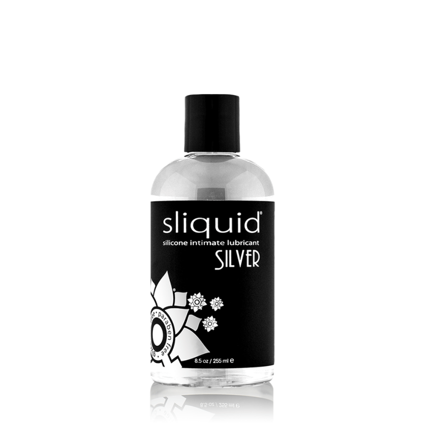 Silver 8oz - Natural Lube - Silicone Lube - Best Lube - Lube for Women - Sliquid