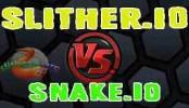 Slither.io vs Snake.io