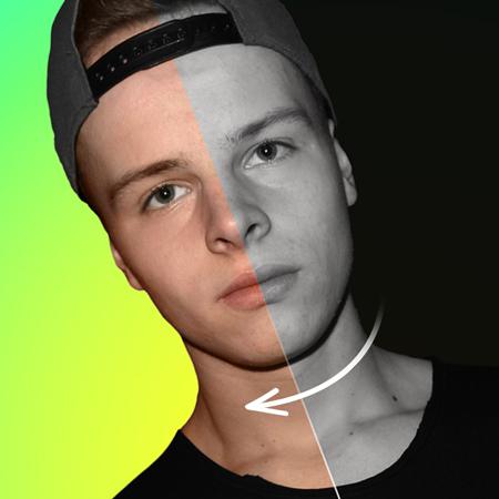 Grafische beeldbewerking - van zwart-wit naar een kleuren foto