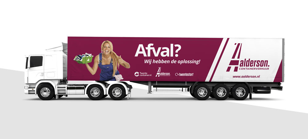 Vrachtwagen belettering Aalderson