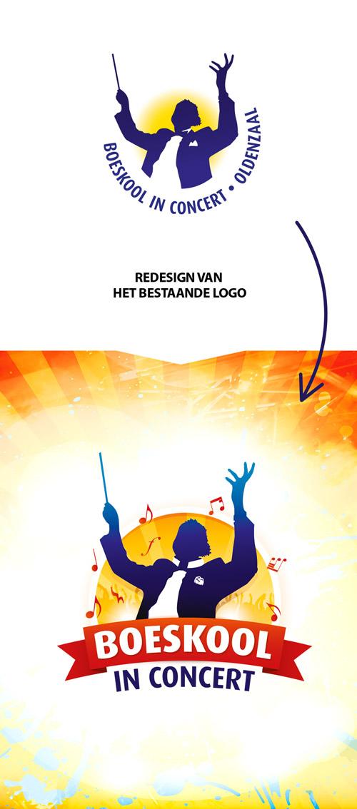 logo redesign - boeskool in concert oldenzaal