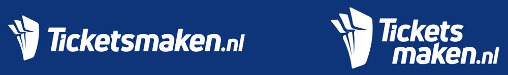 Oldenzaal, Ticketsmaken.nl | Witte logo ontwerpen naast elkaar