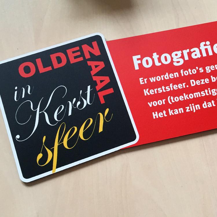 Print en drukwerk Oldenzaal | Oldenzaal in Kersfeer geprinte bordjes, uitgesneden in speciale vorm