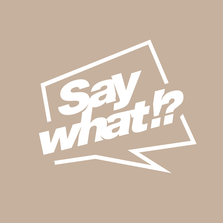 Say what logo | wordmark mark - playing helvetica type & letter spacing