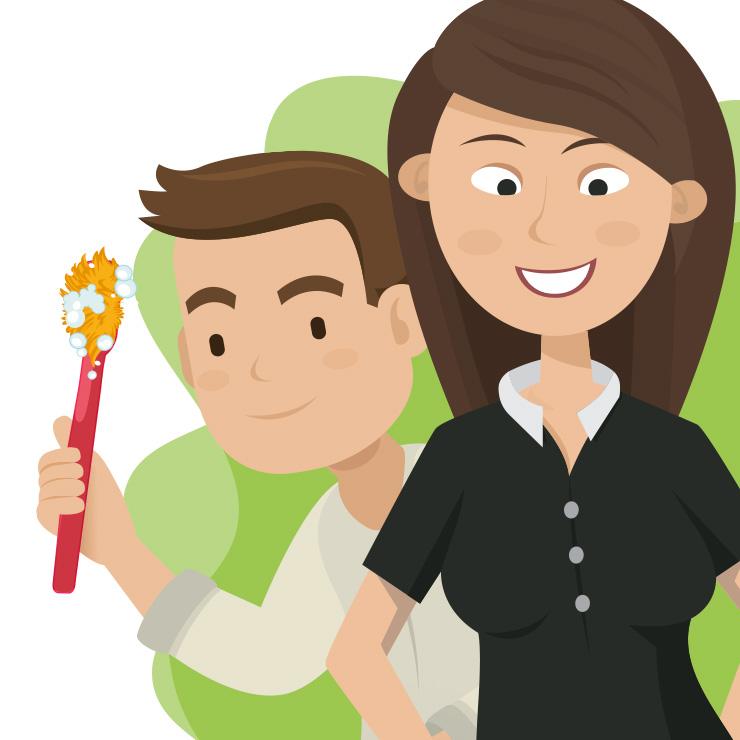 Vector design drawing   Digitaal tekenen voor personeelswerving campagne Denekamp - Visual personeels advertentie