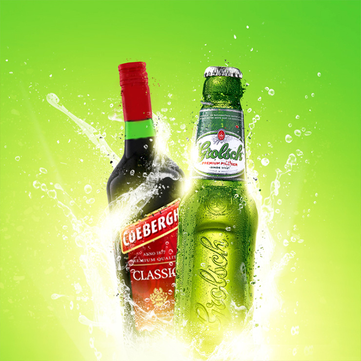 grolsch & coebergh visual met lightning effects | display bright advertising visual, event design by slize