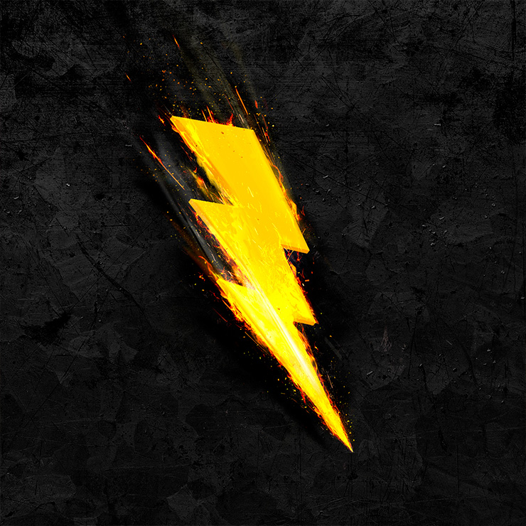 Flash lightning grafisch design | Photoshop to illustrator artwork | reclamestudio voor grafisch ontwerp Oldenzaal, Denekamp, Enschede, Hengelo, Losser e.o.