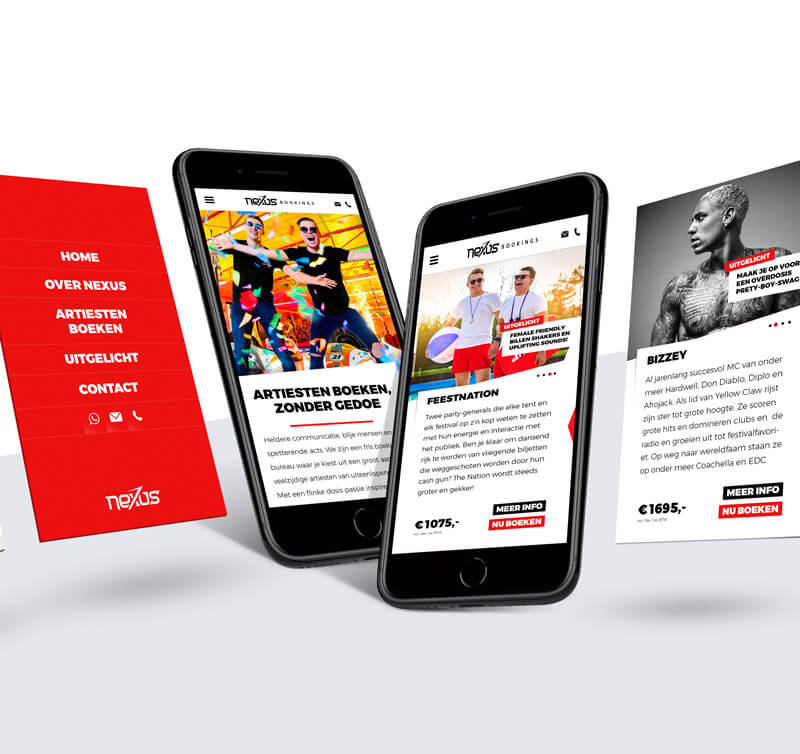 Responsive webdesign. Grafisch ontwerp & vormgeving door Slize