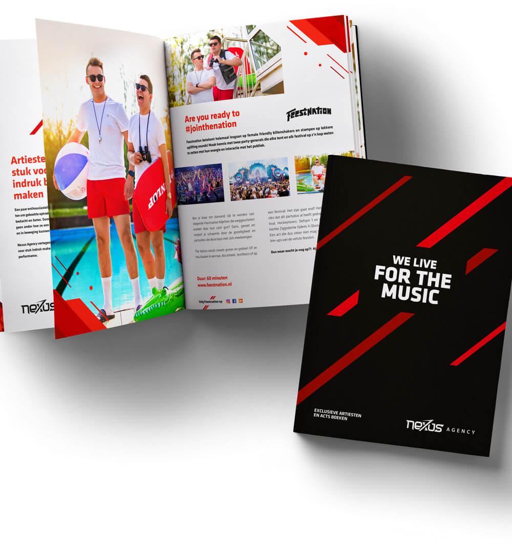 Nexus Oldenzaal, design magazine - event vormgeving en grafisch ontwerp