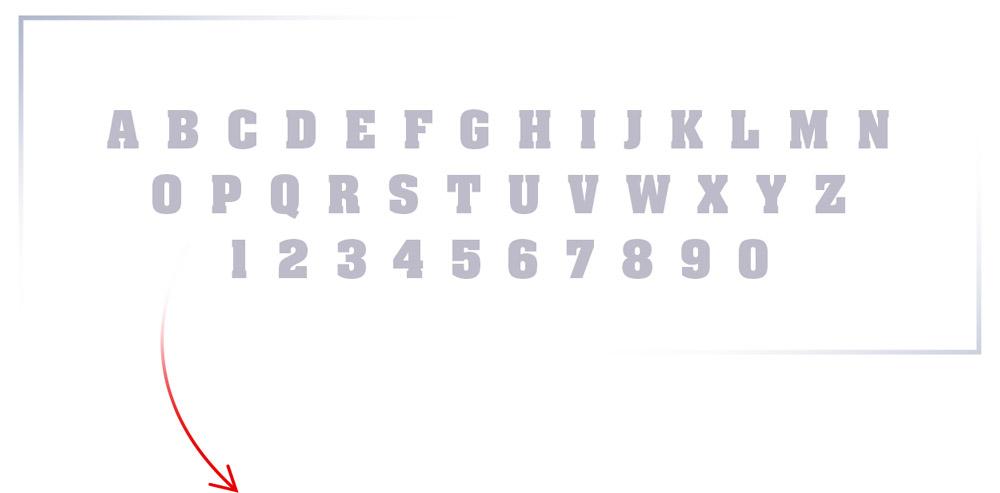 big fat slab serif font - lettertype keuze voor logo american classics