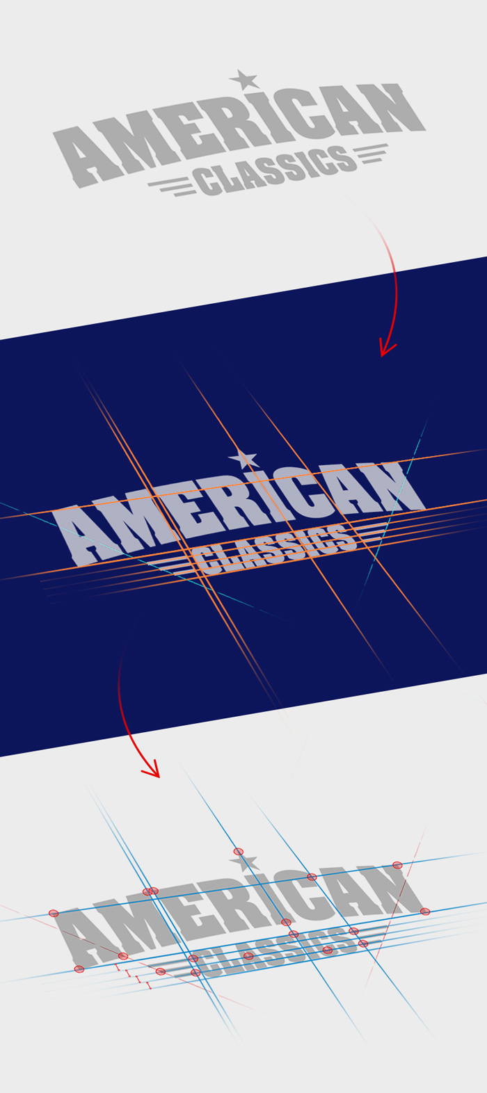 final design guides, logo ontwerp proces | american classics oldenzaal