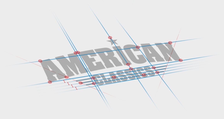 final logo guides | design uitlijnen en strak maken - American Classics logo ontwerp oldenzaal