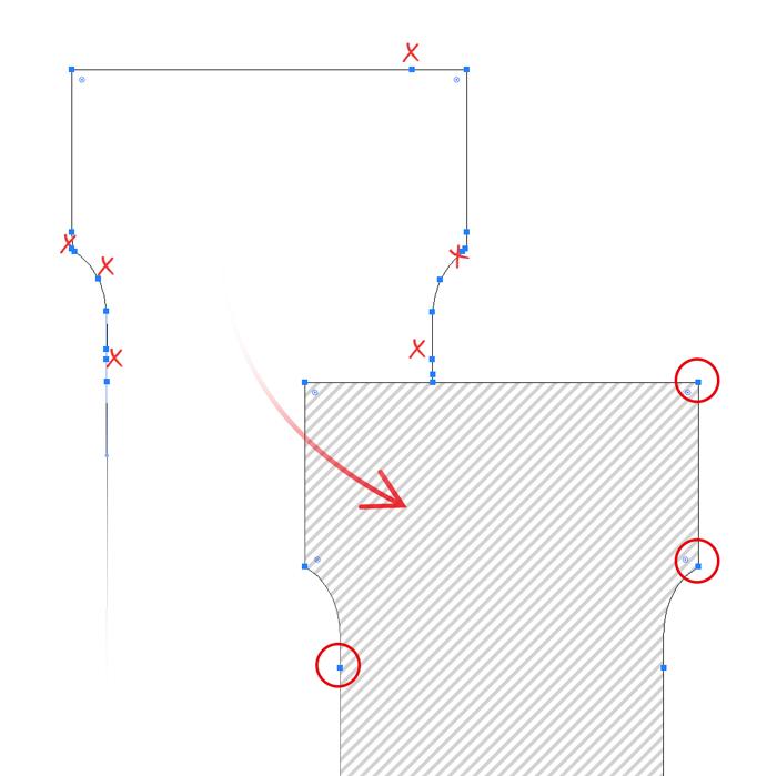 overbodige ankerpunten verwijderen in adobe illustrator, logo ontwerp