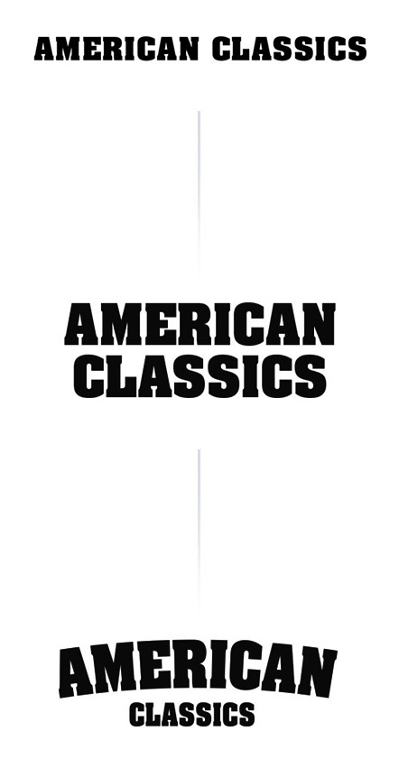 Logo ontwikkeling stap 1 | American Classics event design by Slize