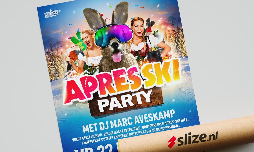 Poster ontwerp voor de apres ski party enschede / losser - grafisch ontwerp & social design