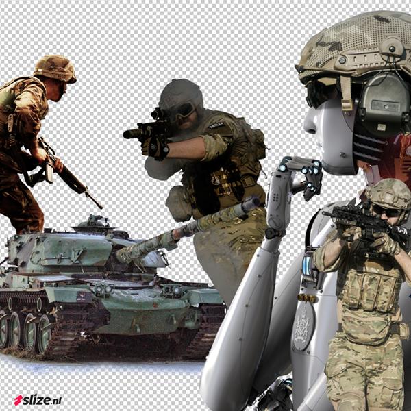 Slize artwork photoshop - leger / defensie vrijstellen en beeldbewerking