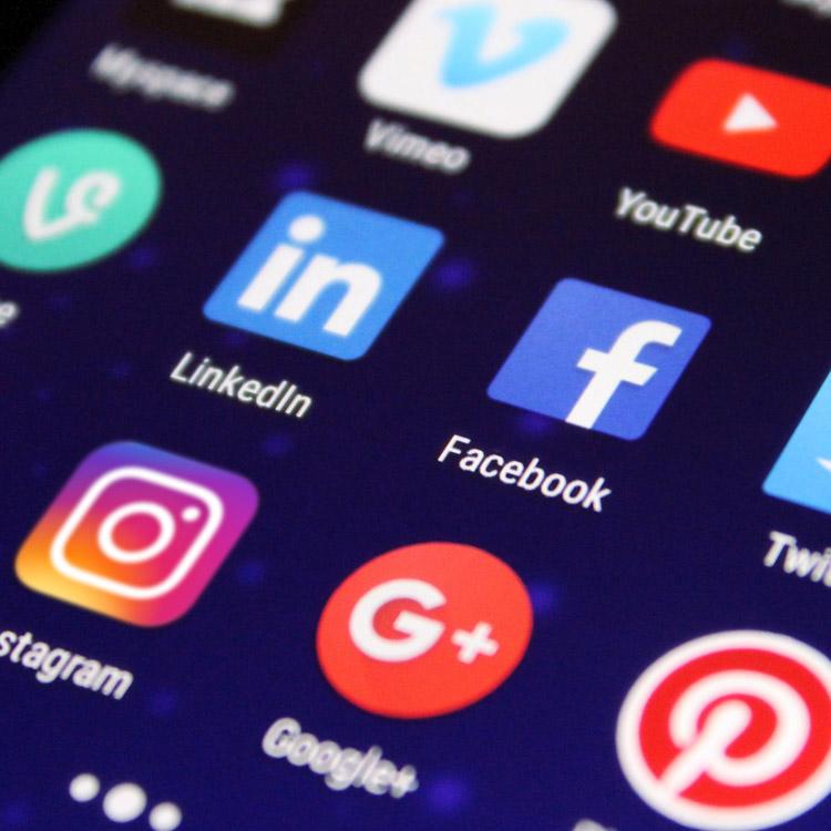 social media app icons | slize samenwerking, content creatie en publicatie