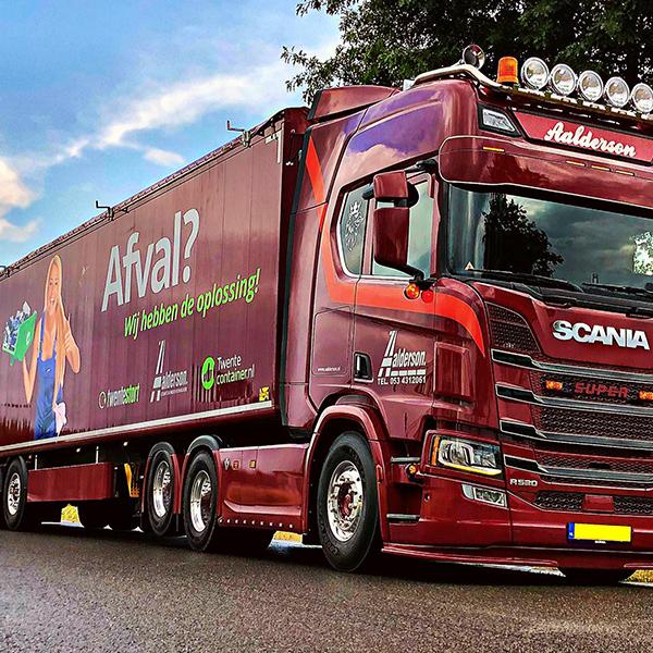 Aalderson vrachtwagenreclame - Sign, print, vrachtwagenreclame