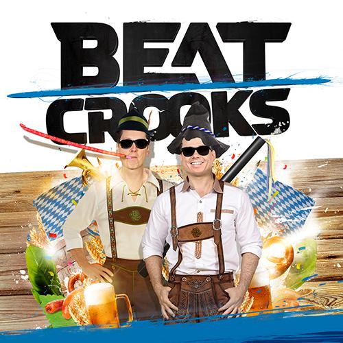 Beatcrooks Partyact DJ - beeldbewerking voor social media, oktoberfest social media ontwerp