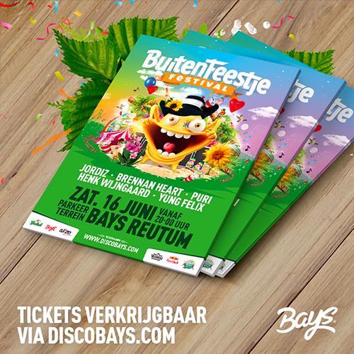 buitenfeestje festival - flyers social media content