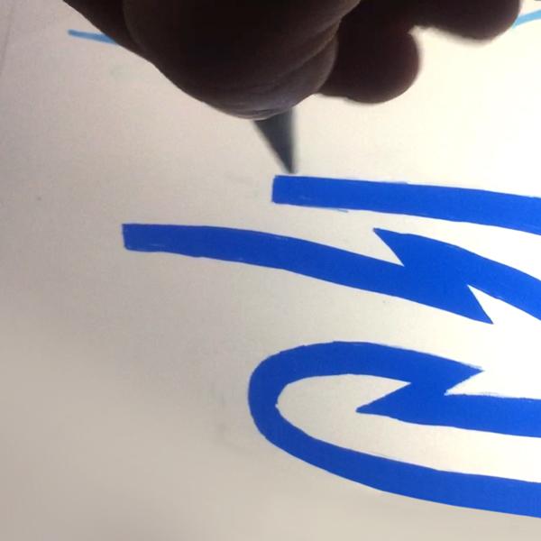 Schetsen, een logo ontwerp tekenen met de ipad pencil 2