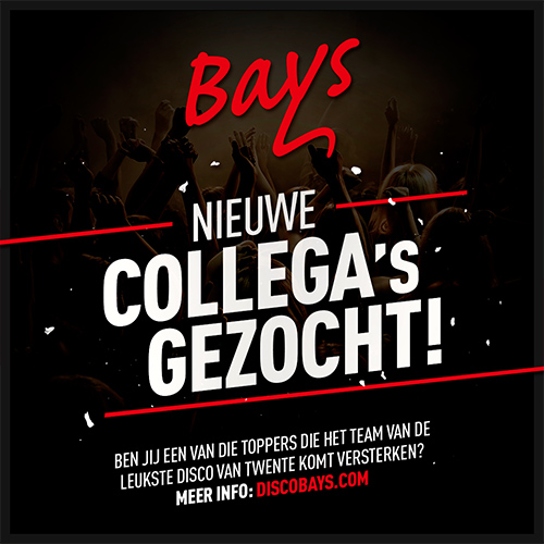 disco bays reutum - personeels advertentie - social media post
