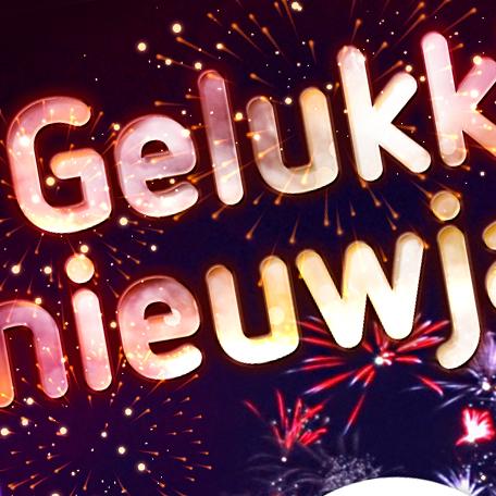 Gelukkig nieuwjaarwens voor social media