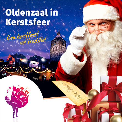 oldenzaal in kerstsfeer - social media advertentie