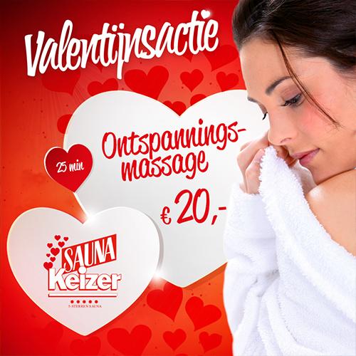 sauna keizer valentijns actie, nieuwsbrief & social media post